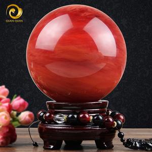领3元券购买招财红色水晶球家装饰品摆件风水球