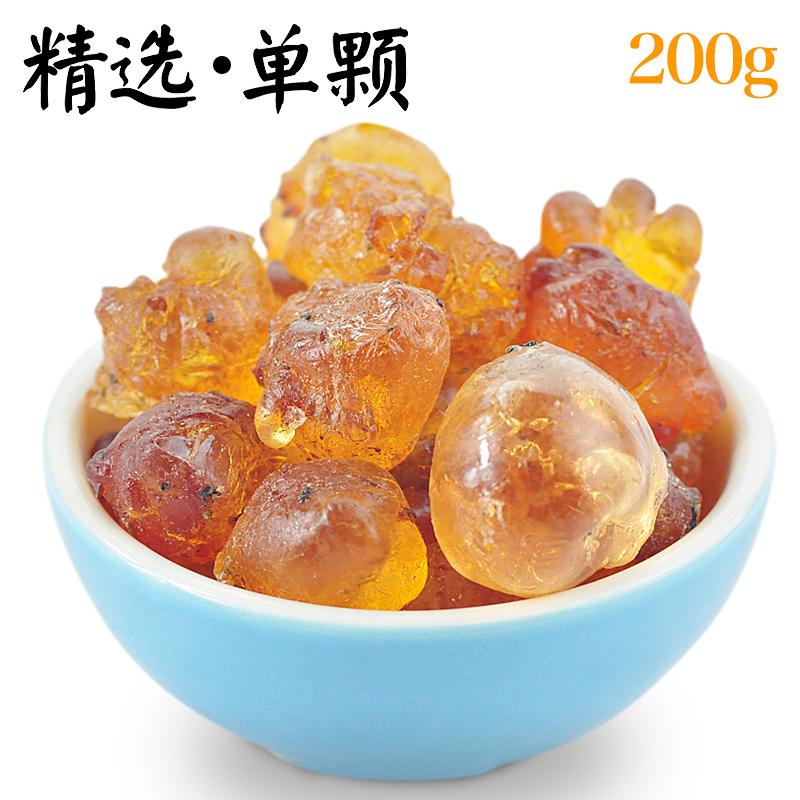 优选精品桃胶天然野生桃花泪食用桃油杂无添加 罐装200g