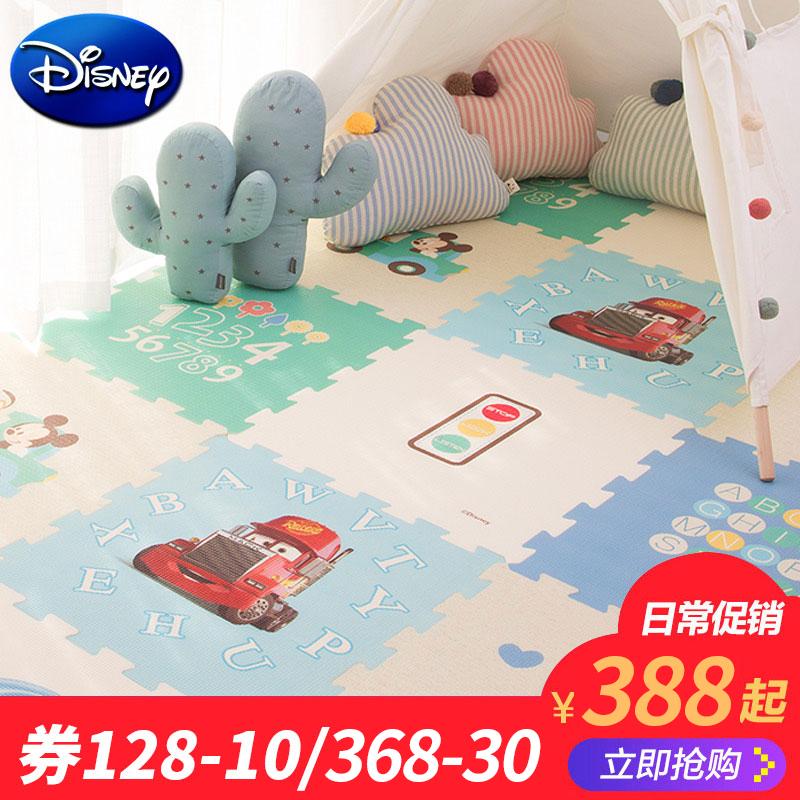 迪士尼爬行垫xpe拼接加厚家用婴儿宝宝爬爬垫儿童泡沫大游戏地垫388.00元包邮