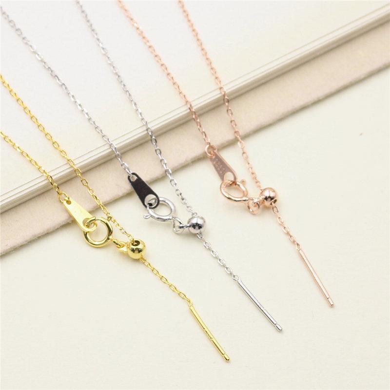 [艾银珠宝 专业配件项链]s925纯银diy手工项链配件 穿心月销量180件仅售13.8元