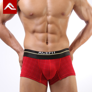 3 ACEFIT male boxer underwear sexy men s underwear low waist pants cotton cotton