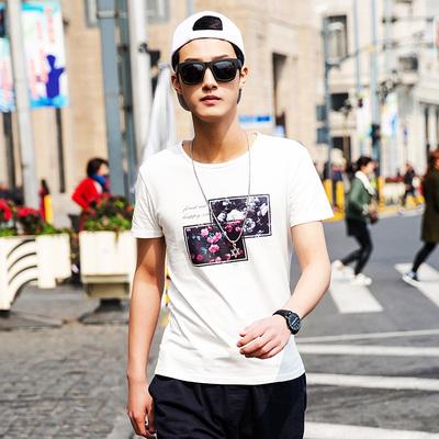 夏季男士短袖T恤圆领纯棉印花 星座 T3029 P25