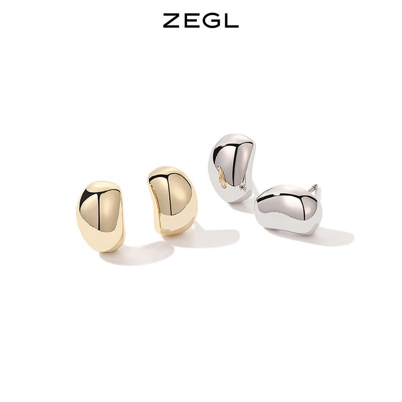 ZEGL999足银小豆丁耳钉女夏养耳洞耳环简约小巧耳饰品2021年新款