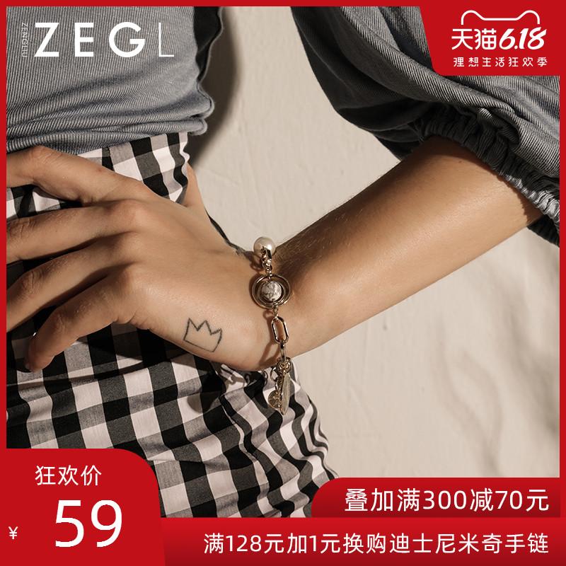 ZEGL小众设计手链ins风潮hiphop韩版简约学生个性首饰女流行饰品