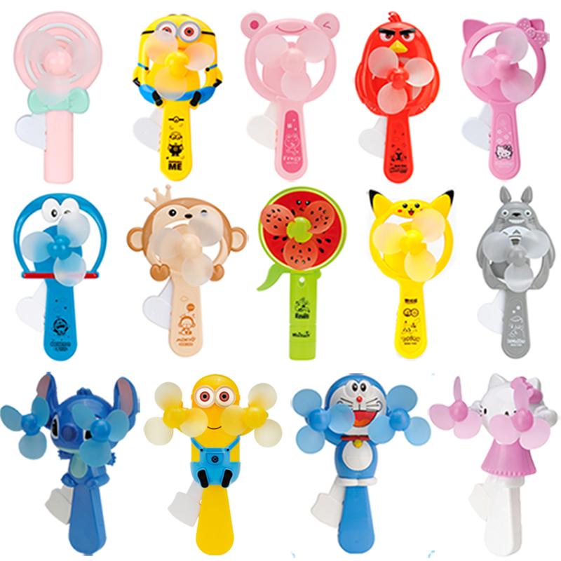 卡通儿童小猪喷雾手压风扇便携学生手动迷你风扇可爱手持风扇玩具
