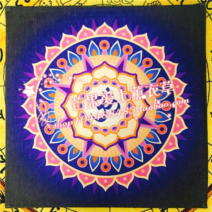 Алтарная ткань скатерть цветок жизни lotus chakra anka духовные украшения магические ритуальные инструменты