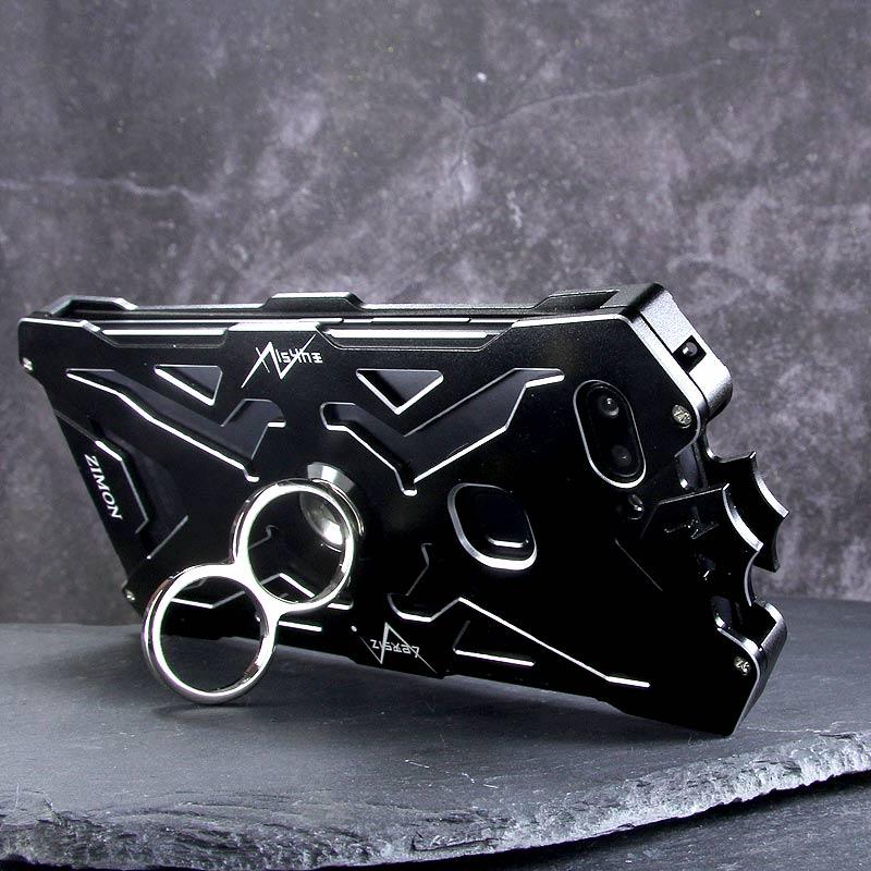 SIMON THOR Magnetic Bracket Aviation Aluminum Alloy Shockproof Armor Metal Case Cover for vivo X20 Plus & vivo X20