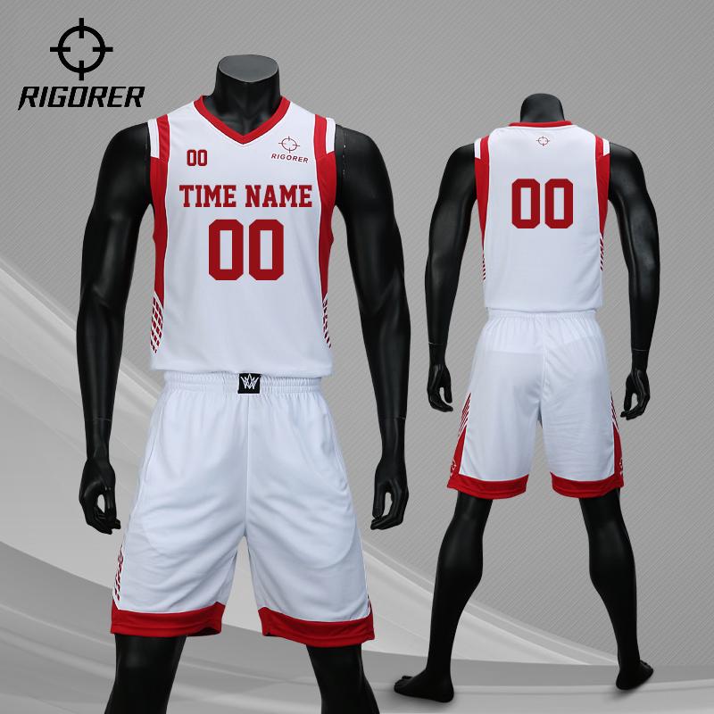 准者篮球服短袖套装男定制篮球比赛队服大学生个性篮球球衣训练服有赠品