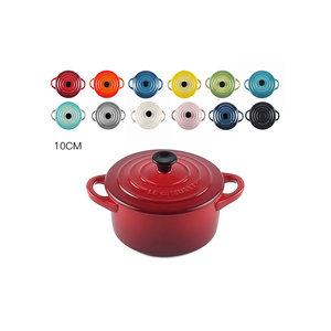 现货 法国Le Creuset酷彩炻瓷锅形炖盅 烤罐 带盖小碗10cm多色