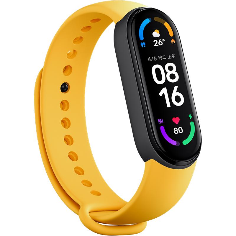 小米手环6标准NFC通用多彩腕带智能运动手环替换带亲肤材质透气官方正品