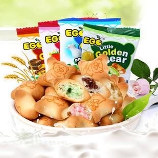马来西亚进口ego金小熊夹心饼干
