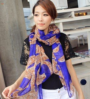 Bag post popular multi color pattern leopard dragon pattern womens fashion scarves Scarf Shawl shawl shawl shawl multi color Chiffon