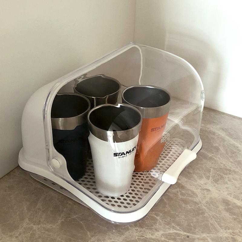 券后49.99元厨房水杯收纳架塑料带盖食品收纳盒