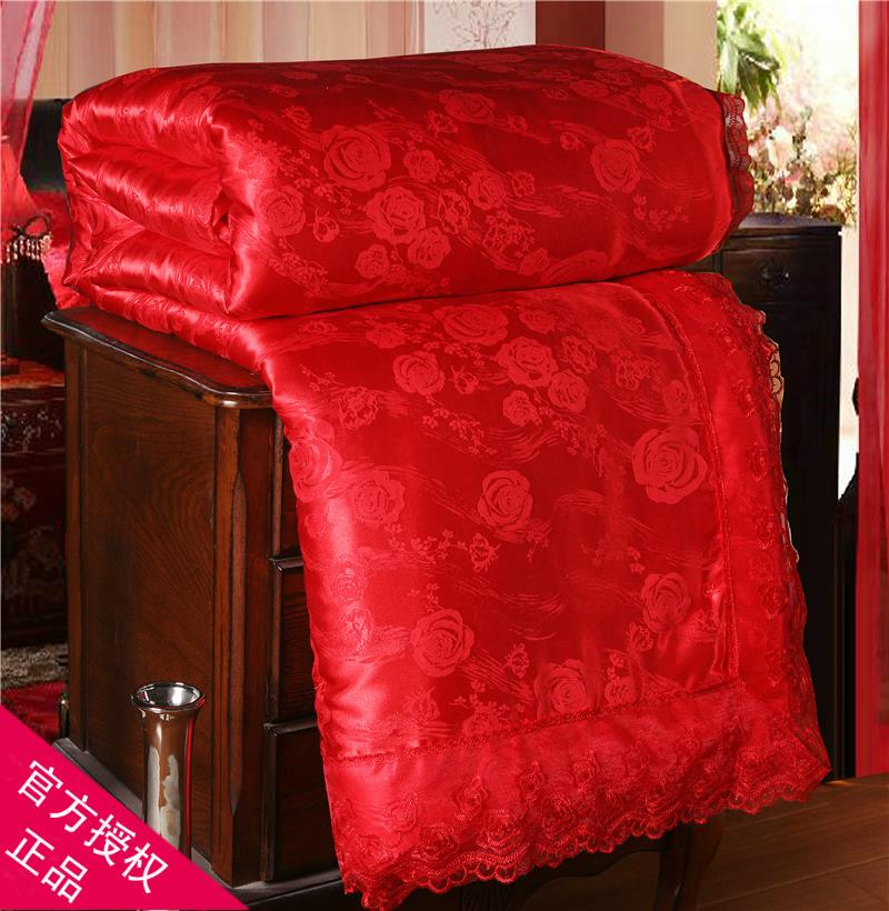 Attachment to mercury home textile silk quilt Cotton wedding quilt mulberry silk quilt son and mother are red spring and autumn and winter core clearing