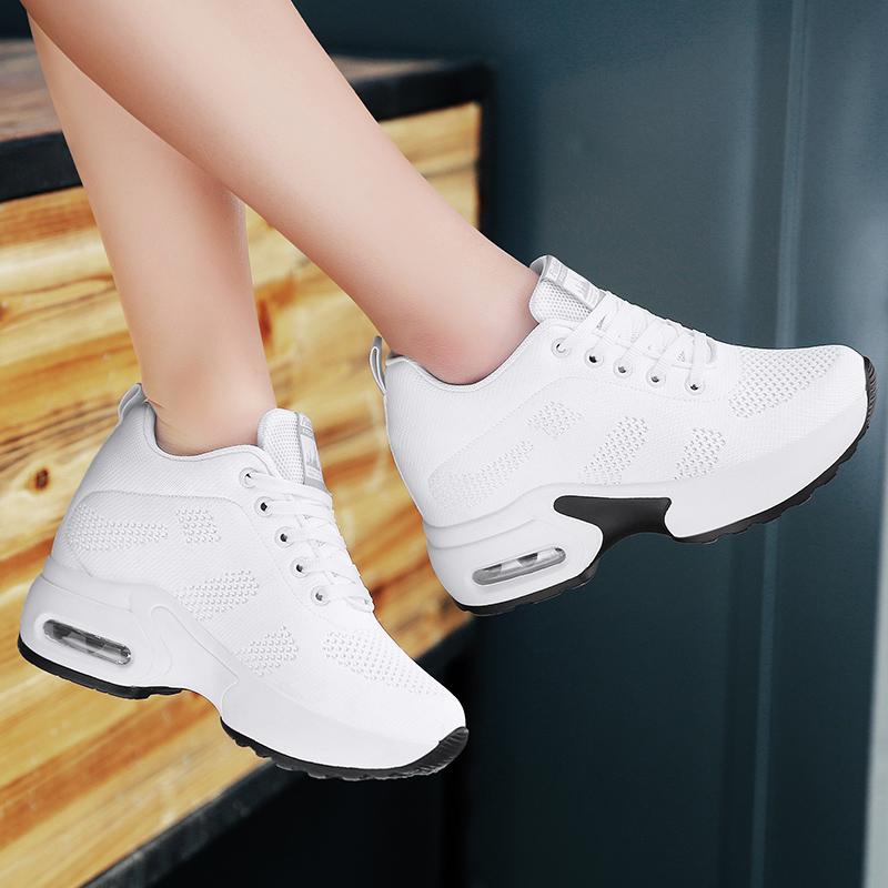 透气鬼步舞鞋女网面运动春夏季新款内增高女鞋软底杨丽萍广场舞鞋