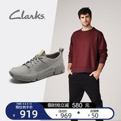 clarks其乐男鞋经典跑步鞋男户外休闲运动鞋舒适低帮平底鞋男