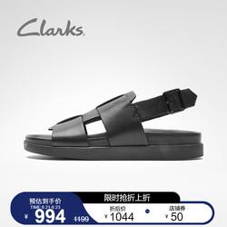 clarks其乐男鞋Sunder Strap2021新款简约舒适一字带凉鞋男鞋夏季