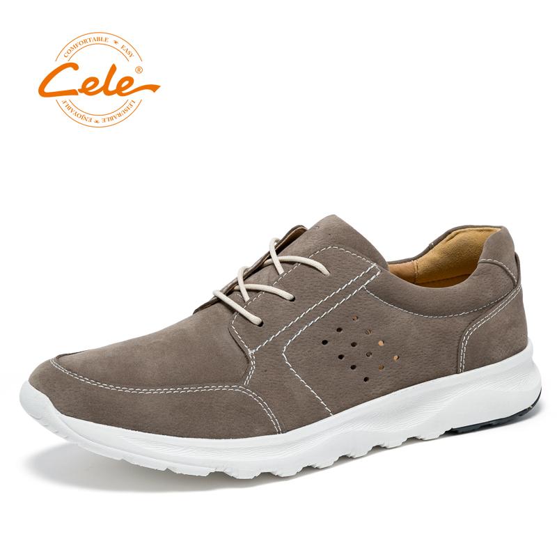 Cele/策乐男鞋春夏新款男鞋透气轻便运动鞋时尚套脚男鞋舒适系带