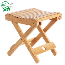 Wonderful bamboo Bamboo Folding stool Portable Home solid wood Mazza outdoor fishing chair small bench small stool square stool