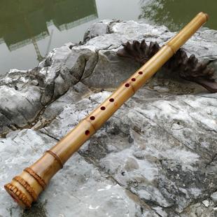玉屏桂竹南箫日式五孔尺八外切口镶嵌牛角唐歌口尺八乐器包邮短箫