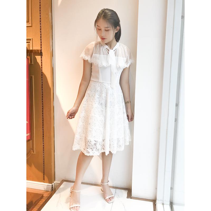 11-14新券连衣裙2019新款夏裙子仙女超仙收腰显瘦气质中长款连衣裙雪纺法式