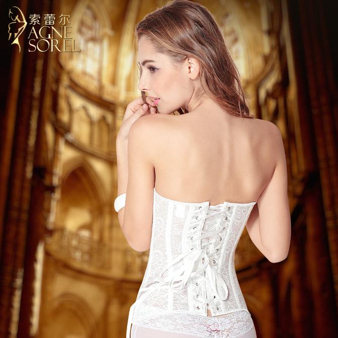 内衣专用塑身衣宫廷燃美体脂束腰收腹 背心塑形瘦身束身上衣女 婚纱