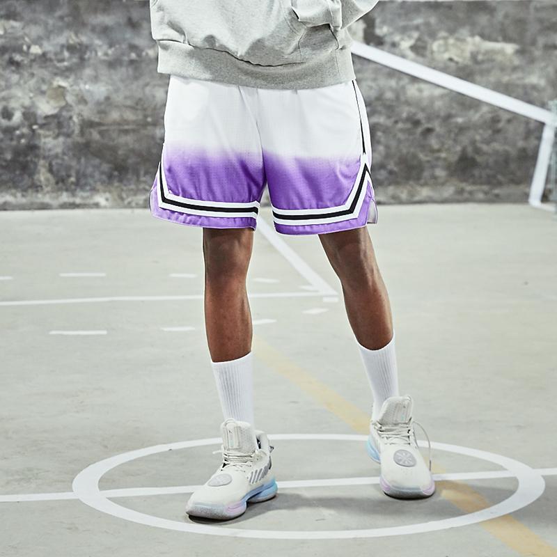 zoneid2019新款白紫色渐变运动短裤10-27新券