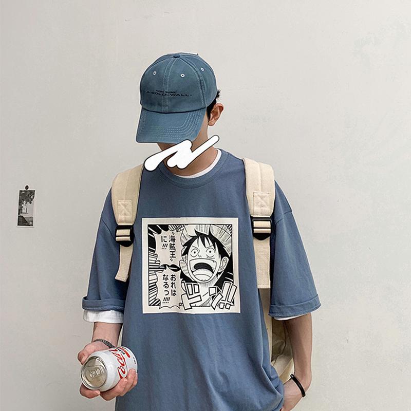 券后18.90元ins港风夏季ulzzang动漫短袖t恤