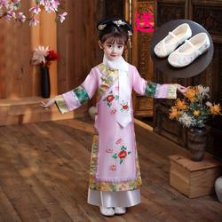 新款儿童古装还珠格格服装女童宫廷清朝公主满族旗服甄嬛表演出服
