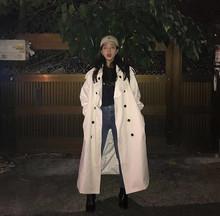 风衣外套秋新款2020春季韩版chic复古泫雅风宽松过膝中长款上衣女