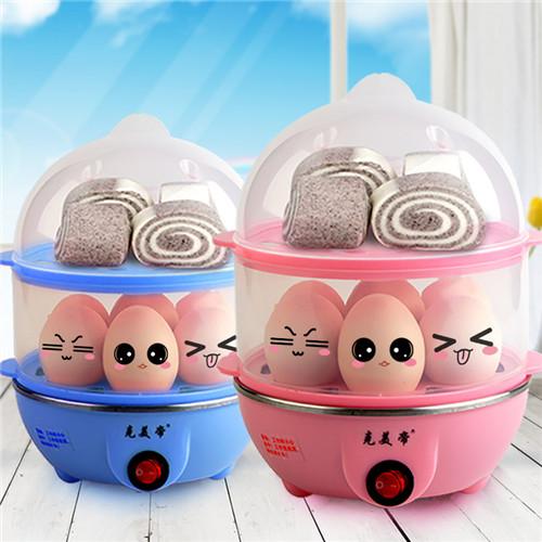 【天天特价】克美帝双层煮蛋器蒸蛋羹奶瓶消毒热牛奶350W自动断电