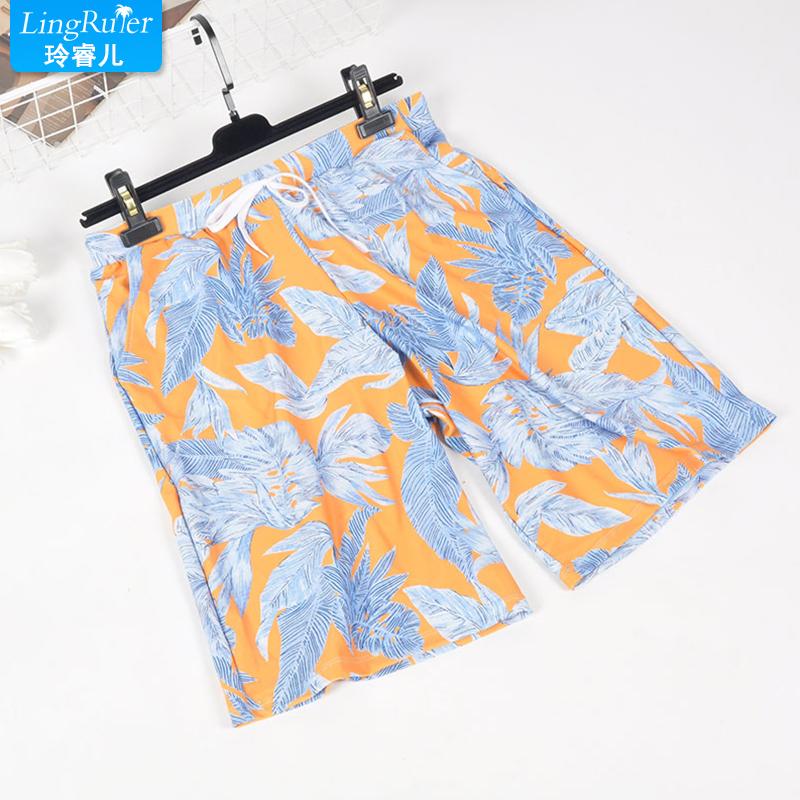 Пляж брюки краткое брюки свободный прямо большой двор быстросохнущие шорты плавки любители приморский праздник плавать брюки
