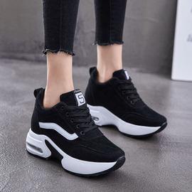 回力内增高女鞋2020春季软底厚底松糕鞋学生运动鞋加绒保暖女棉鞋