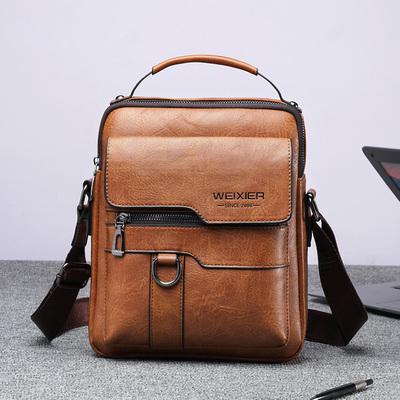 Men's shoulder bag 2021 new business casual bag men's summer trend messenger bag fashion mobile phone small backpack
