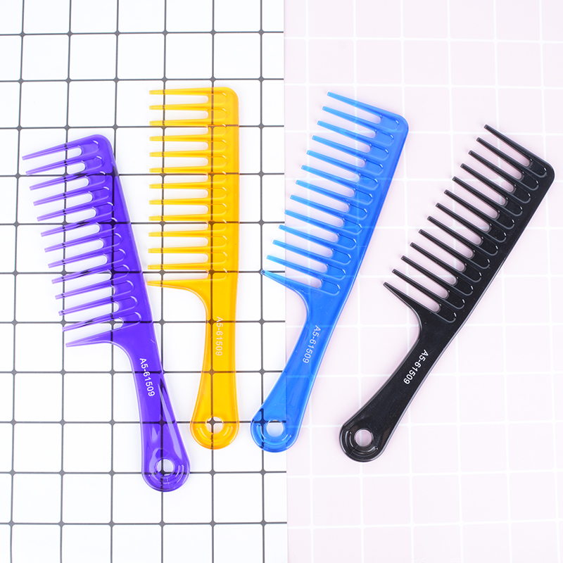 Comb wide tooth curly hair wig female comb large tooth comb special comb large household anti-static comb hairdressing plastic