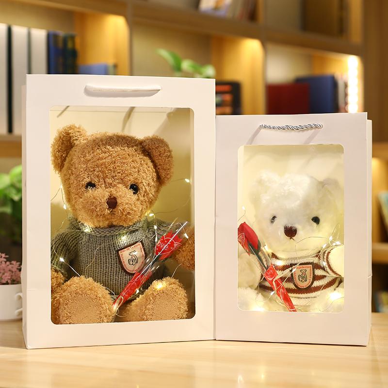 正版礼盒装泰迪熊 小熊公仔布娃娃毛绒玩具送女友生日礼物情人节
