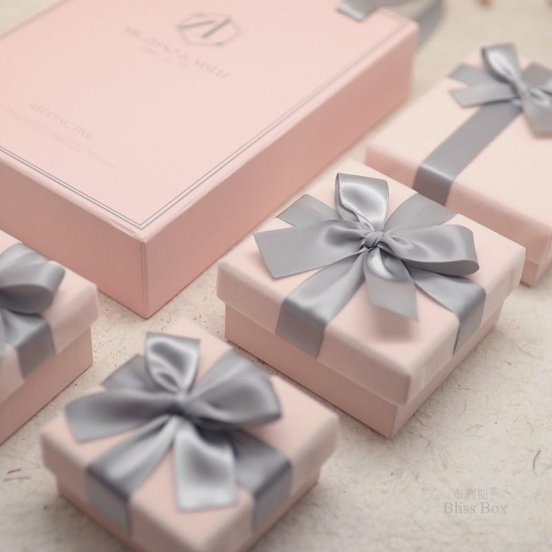 丝绒创意结婚伴娘伴手空小礼物盒子限4000张券