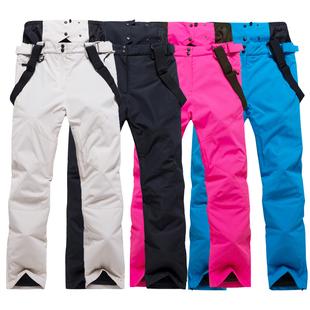 滑雪裤男女款加厚防水透气单双板情侣款保暖加棉耐磨冬季背带雪裤