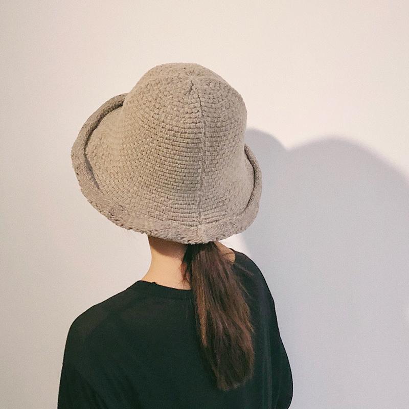 渔夫帽女士复古英伦韩版潮毛线帽子假一赔三
