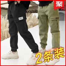 【一家人旗舰店】【秋款抢购】2021男童工装裤纯棉长裤