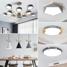 Modern Simple Atmospheric Lighting, Three Rooms, Two Rooms, Living Room, Dining Room, Bedroom, Nordic style chandelier, Full Room Lighting Set