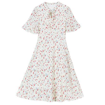 碎花雪纺的小个子2019夏季气质长裙