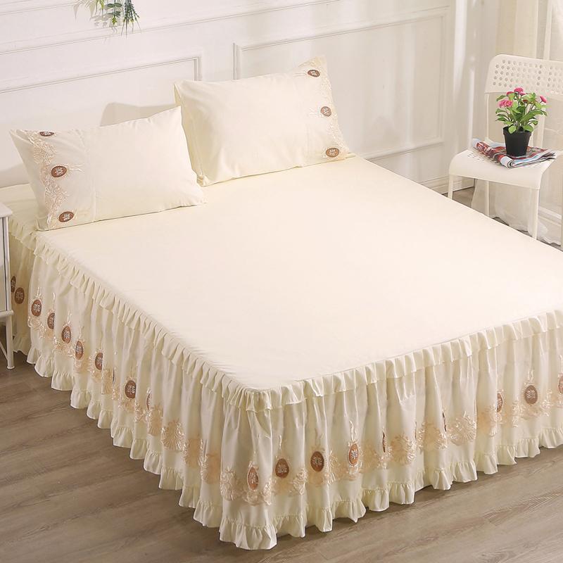新款床罩蕾丝床裙单件荷叶花边裙式防滑公主床套1.8m防尘罩保护套