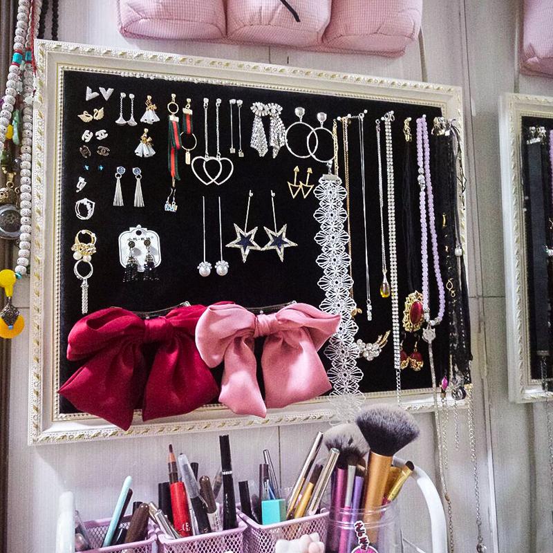 包邮首饰架饰品收纳盘耳饰展示板耳环项链手链挂板饰品架珠宝道具
