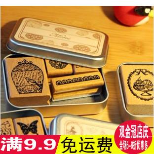 五年八班韩国 铁盒复古印章 美好时光印章 6款选 A247