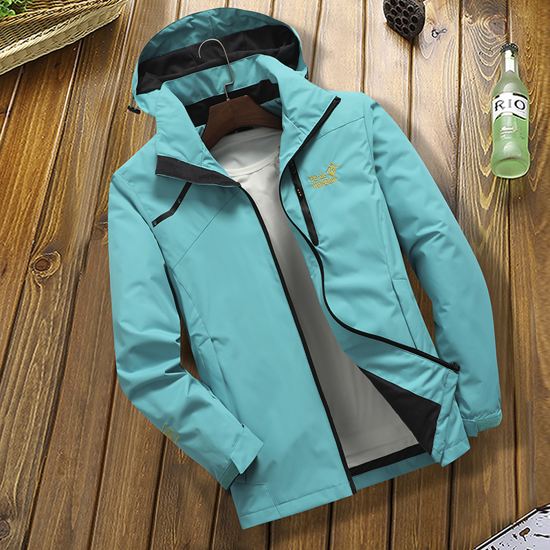 Spring and autumn thin mens single layer assault suit outdoor tide brand windproof coat womens four seasons mountaineering suit waterproof mens clothes
