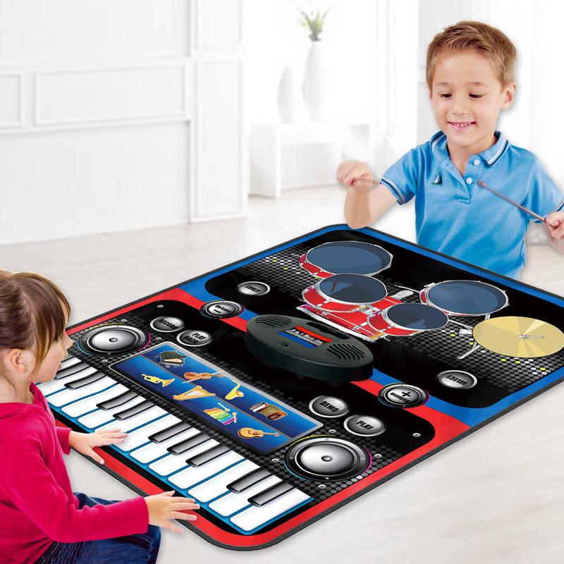 儿童宝宝爵士架子鼓电子琴钢琴毯早教益智音乐女孩男孩玩具初学者