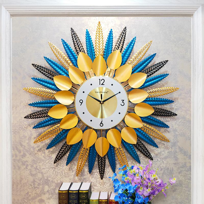 装饰钟表客厅免打孔挂墙静音机芯网红钟北欧轻奢挂钟创意个性家用