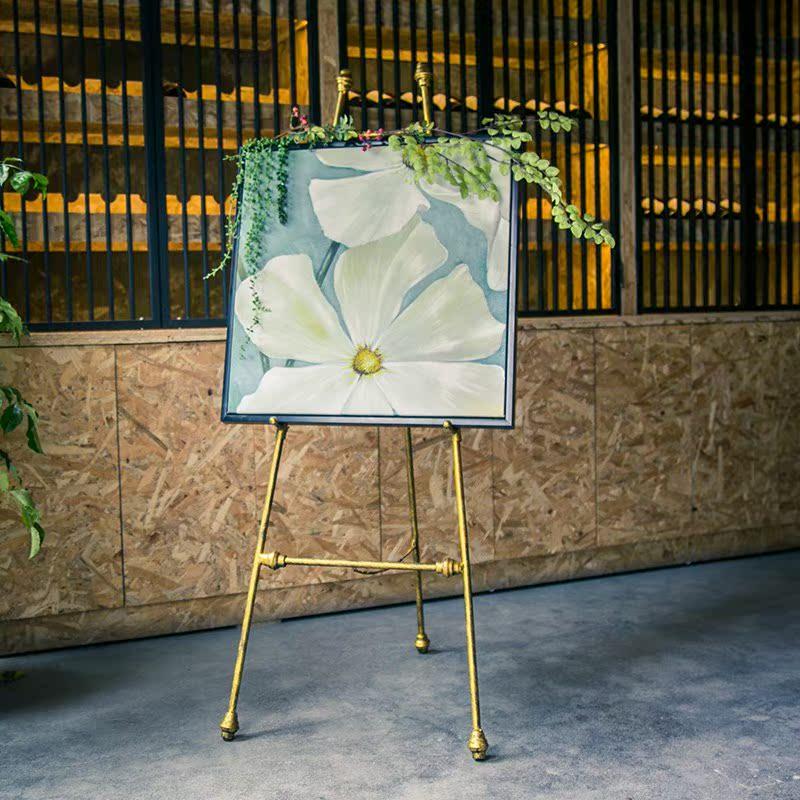欧式铁艺油画架画板支架油画展示架婚庆画架瓷砖架迎宾架支持定制