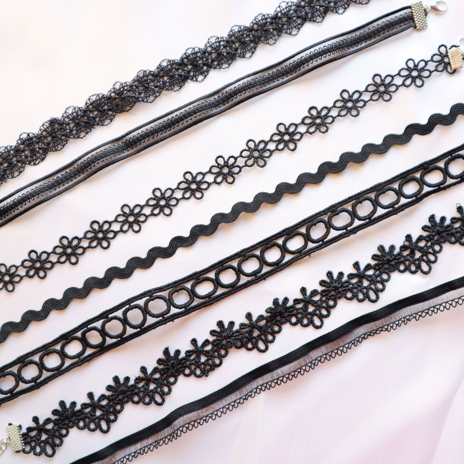 Collarbone chain spring and Summer Black seven European and American sexy lace chooker NECKLACE GOTHIC sexy short neck chain